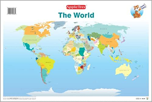 Buy educational charts world map book online at low prices in buy educational charts world map book online at low prices in india educational charts world map reviews ratings amazon gumiabroncs Image collections