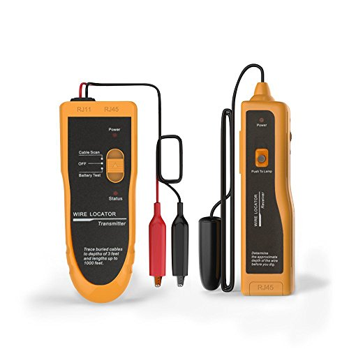 Kolsol Underground Wire Locator Cable Tester F02 With Earphone for Locate Wires and Control Wires Cables Pet Fence Wires ()
