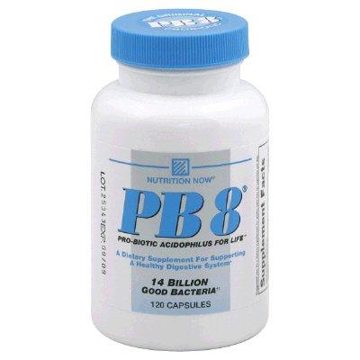 Nutrition Now PB 8 Probiotic Acidophilus 14 Billion Capsules (120 Capsule) by Nutrition Now