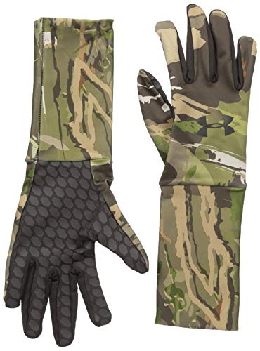 Under Armour Boys' Youth Camo ColdGear Liner Gloves, Ridge Reaper Camo Forest /Black, Youth Large
