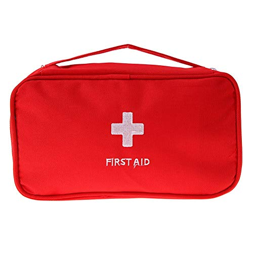 Storage Bags - Travel Portable First Aid Emergency Medical Large Survival Bag 600d Oxford Wrap Storage Red Gray - Vaccum Outside Heavy Ziploc Breastfeeding Attic Creek Long Handles Avent