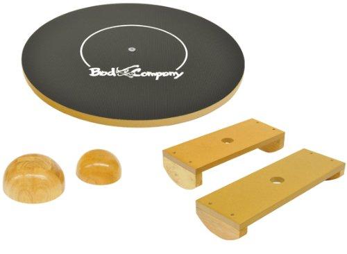 Deluxe Balance Board Set 45cm aus Holz (MDF) in Studio-Qualität inkl. bebilderter Trainingsanleitung