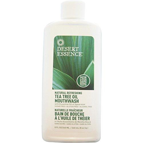 Desert Essence Natural Refreshing Tea Tree Oil Mouthwash, Spearmint 8 oz