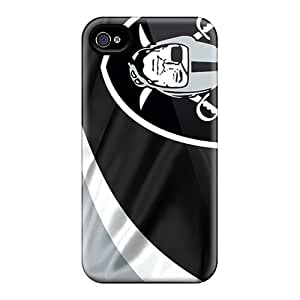 Marycase88 Iphone 4/4s Shock Absorbent Hard Phone Cover Provide Private Custom Vivid Oakland Raiders Skin [dub6792LrmY]