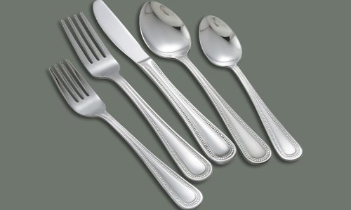 Pearl 20 Piece Flatware Set Stainless Steel Heavy Weight