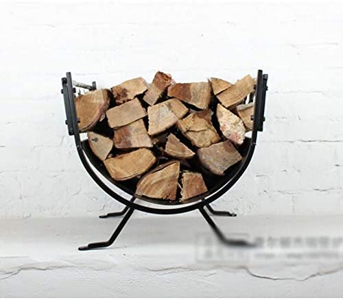 ホーム、ヨーロピアンスタイルのアイアン暖炉、薪フレーム、暖炉アクセサリー、屋外の薪フレーム、鉄貯蔵、木製のフレームに適した薪フレーム、彫刻飾り