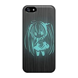Iphone 5/5s SCV7225YGrl Custom Lifelike Hatsune Miku Image Anti-Scratch Cell-phone Hard Covers -SherriFakhry