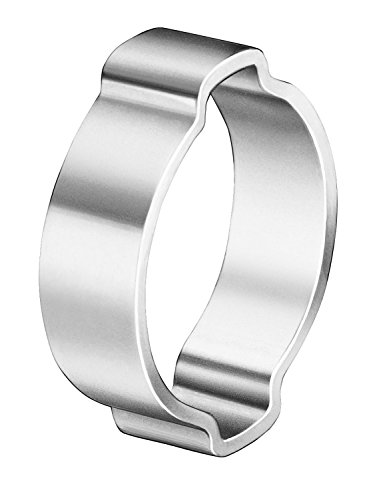 Steel Clamps Ear 2 (Oetiker 10100022 Zinc-Plated Steel Hose Clamp, Double Ear, Clamp ID Range 14 mm (Closed) - 17 mm (Open) (Pack of 100))