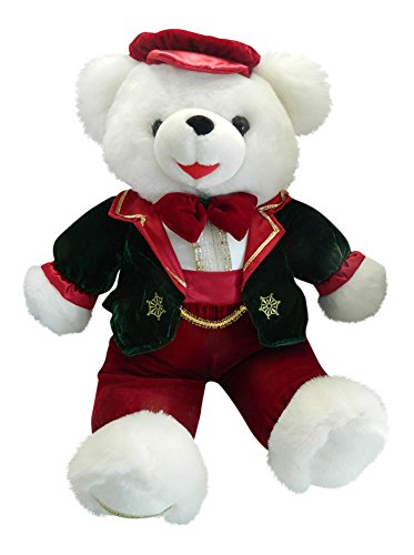 Snowflake Teddy 1998 Boy Christmas Teddy Bear Dressed 21