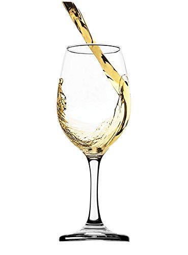 Circleware Twilight White-Red Wine Glasses, 13 ounce, Set of (2 White Milk Glass)