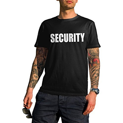 PRESHRUNK PERFORMANCE SECURITY GUARD OFFICER UNISEX SHORT SLEEVE T-SHIRT (Large), Black