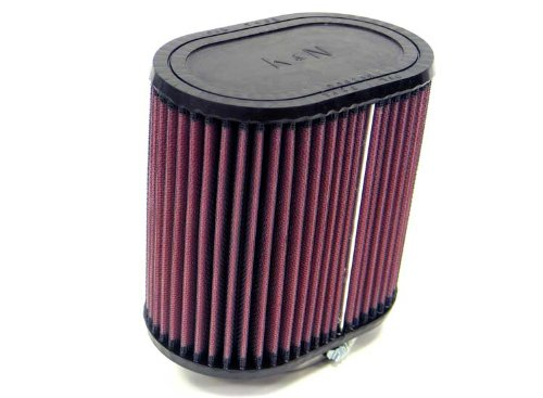 K&N RU-1360 Universal Clamp-On Air Filter: Oval Straight; 2.438 in (62 mm) Flange ID; 6 in (152 mm) Height; 6.25 in x 4 in (159 mm x 102 mm) Base; 6.25 in x 4 in (159 mm x 102 mm) Top