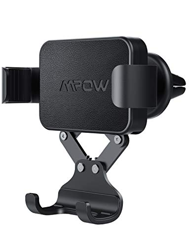 Mpow Gravity Air Vent Car Mount, One-Hand Operation, Auto-Lock and Auto-Release, Phone Holder Compatible iPhone Xs XR X 8 Plus, Samsung S10+ S10 S8+ Note 9, Google Nexus and More
