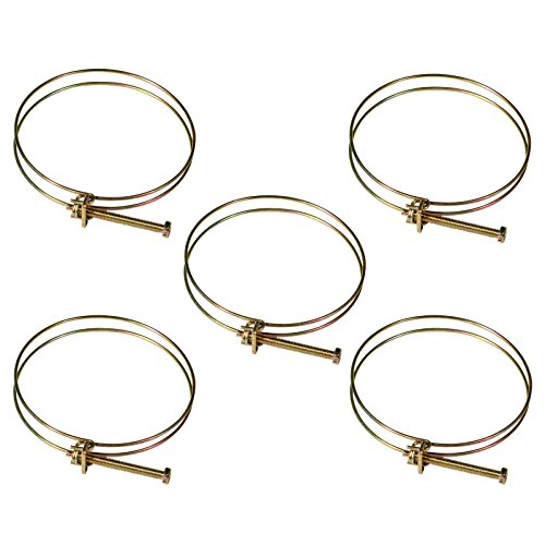 POWERTEC 70101 4-Inch Wire Hose Clamp, 5-Pack ()