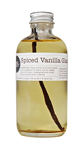 Vanilla Cinnamon Spice | Edible Warming Massage Oil | Relaxing and Sensual (Nutmeg Sheet)