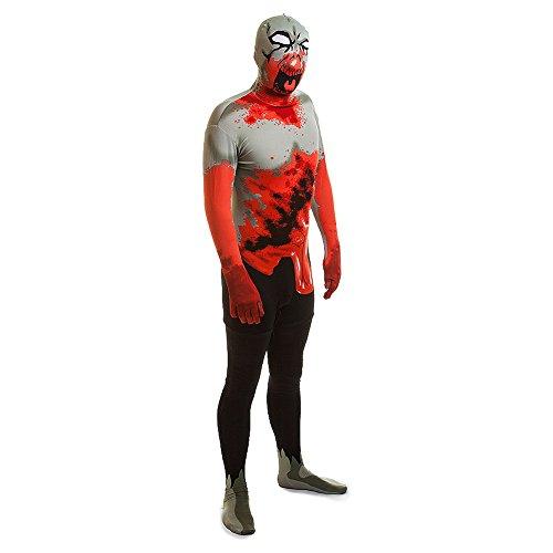 Dead Man Fingers Halloween Food (Mens Halloween Skeleton Zombie Mummy 2nd Skin Jumpsuit Bodysuit Fancy Dress Costume M-XL (Large (5'4-5'10),)