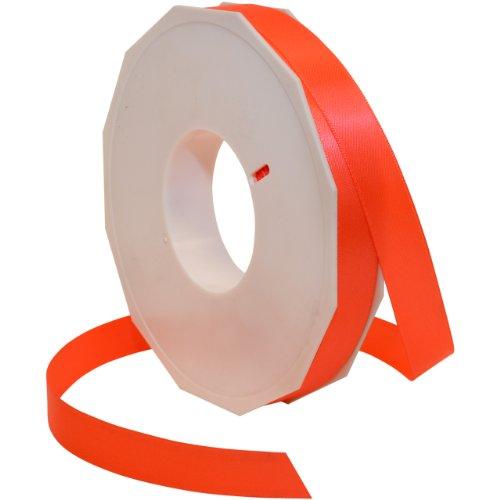 Morex Ribbon Neon Brights Satin, 5/8-inch by 50-yard, Neon Orange ()