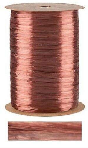 Terra Cotta Pearlized Raffia Ribbon Gift Wrap Wedding 1/2'' Wide 500 Yards Bow by retail-warehouse