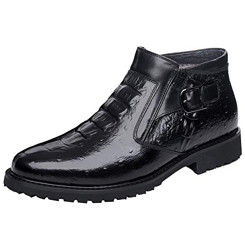 Cassa Leeni Men's Chelsea Boot Winter Boot Warm Fur Lined Leather Dress Casual Ankle Boot