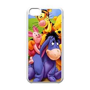 iPhone 5c Cell Phone Case White Winnie-The-Pooh Custom Phone Case Cover For Guys XPDSUNTR23917