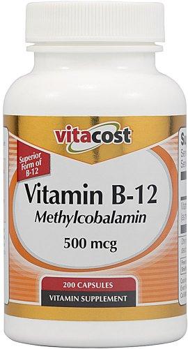 Vitacost Vitamin B-12 Methylcobalamin -- 500 mcg - 200 Capsules