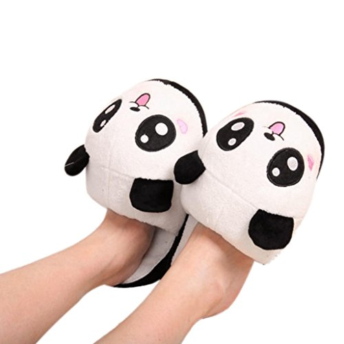 Zapatos interiores, Amlaiworld Zapatillas antideslizantes Panda Warm Plush A