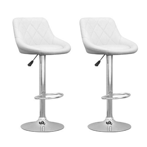 CorLiving Adjustable Diamond-Back Barstools in Leatherette,