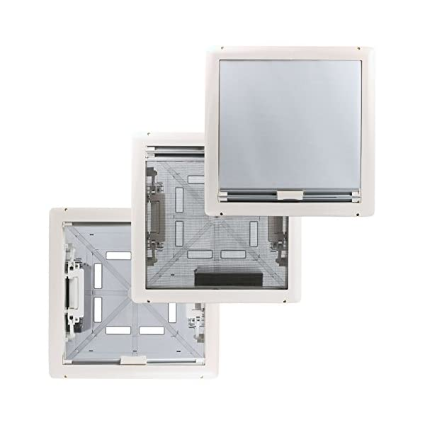 41g%2BSvz2W9L Fiamma Dachfenster Vent 50 Chrystal, 50 cm x 50 cm AuschnittmaàŸ + Deklain Dichtmittel + Schrauben