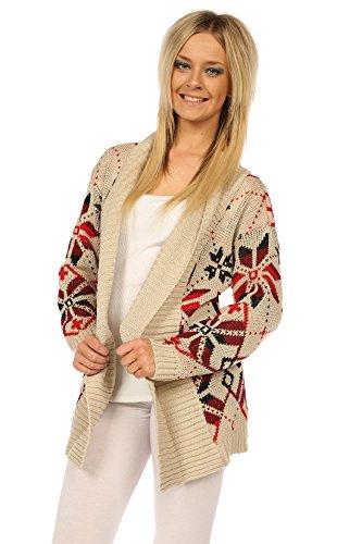 TM Women Ladies Knitted Warm Open Front Cardigan Jumper Top msmNk