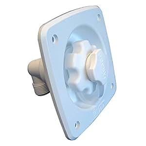 Jabsco Flush Mount Agua Regulador de presi-n de 45psi - Blanco