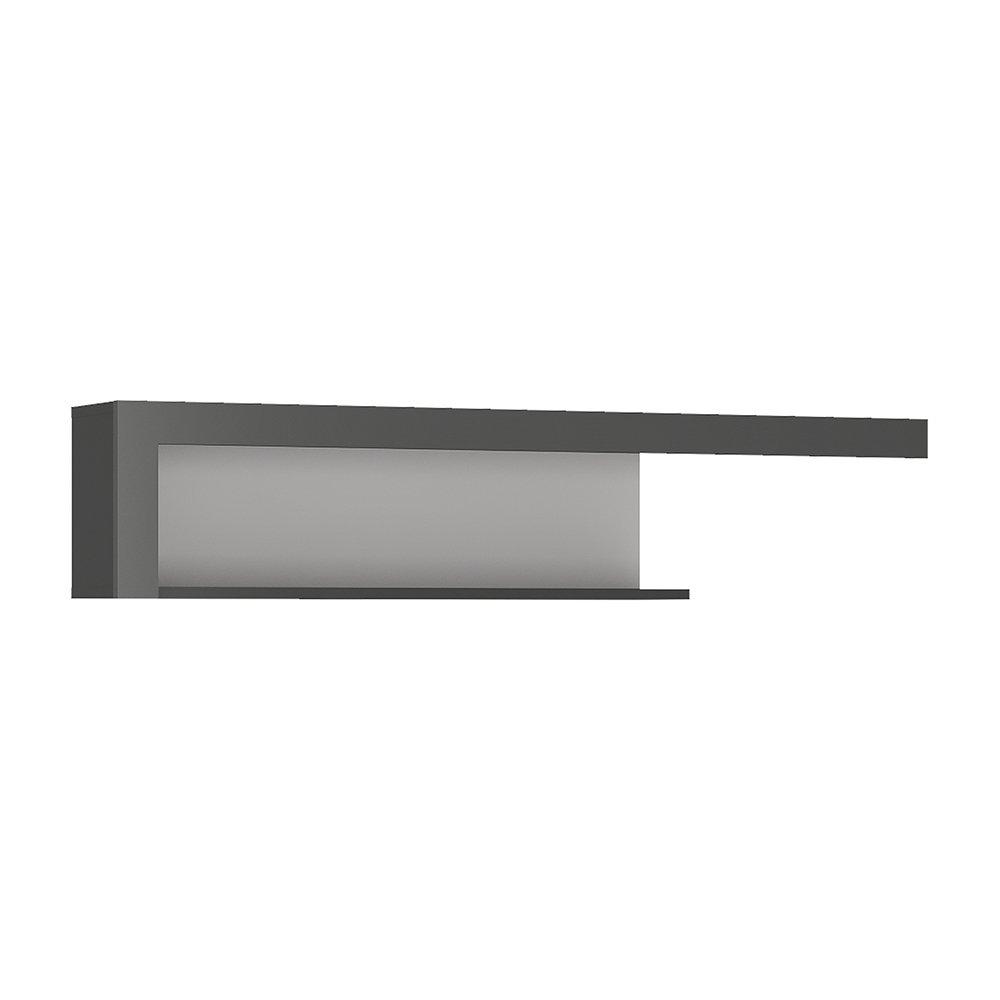 Furniture 2 Go Mobili to go mensola 130cm. Platinum/grigio lucido, legno Wojcik 4260766