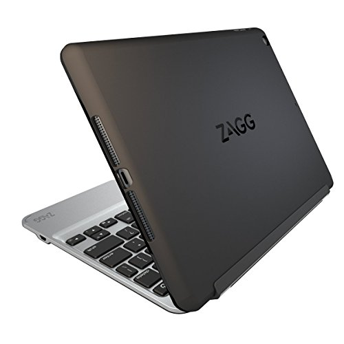 ZAGG Slim Book Ultrathin Case, Hinged with Detachable Bluetooth Keyboard for Apple iPad mini 2 / iPad mini 3 - Black (Best Keyboard For Ipad Mini Retina)