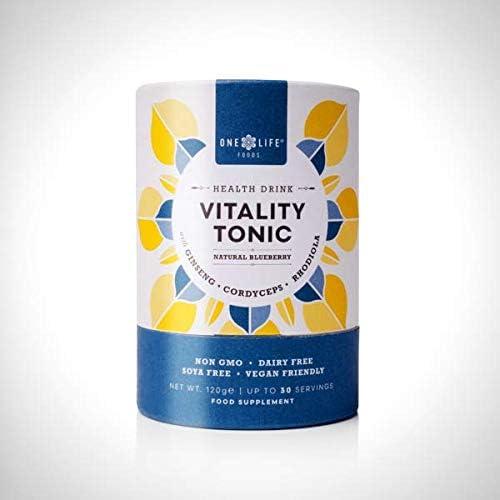 One Life Foods Ginseng, Cordyceps und Rhodiola Vitality Tonic – natürlicher Blaubeergeschmack