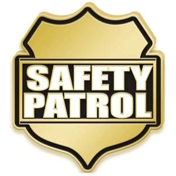 Prime Safety Patrol Pin with Blue Velvet Presentation Case Crown Awards Safety Patrol Pins