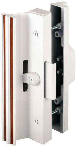 Extruded Aluminum, White, Sliding Patio Door with Clamp Type Latch (Sliding Doors Patio Frame Aluminum)