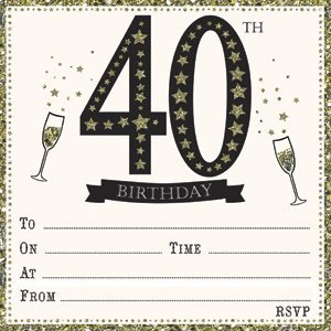 amazon com jean barrington embossed 40th birthday invitations