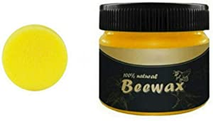 85g Wax Wood Seasoning Beewax Furniture Care Beeswax Home Cleaning Organic 100% Natural Pure (85g Beewax1 sponge)