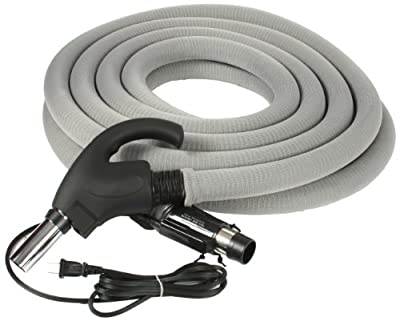 Cen-Tec Systems 99702 Central Vacuum 35 Foot Universal Connect Electric Hose with Hose Sock and Button Lock Stub Tube