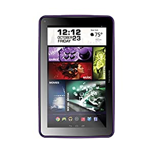 "Visual Capture Prestige ELITE 9Q - 9"" Quad Core 16GB Android Tablet, KitKat4.4 OS, 1024x600 HD Screen, Google Play (Purple)"