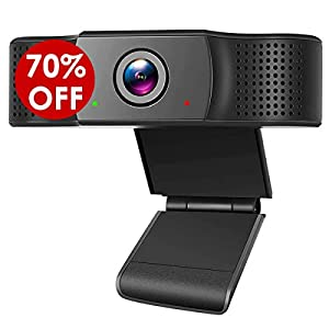 1080P Webcam with Microphone FHD USB Web Camera for PC Laptop Desktop Streaming Computer Camera for video calling