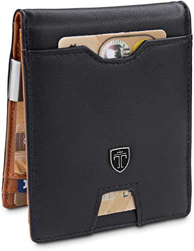 Money Clip Wallet for CoinsLONDON RFID Blocking Wallet   Slim Wallet   Credit Card Holder   Travel Wallet   Minimalist Mini Wallet Bifold for Men with Gift Box TRAVANDO