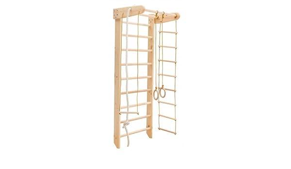 MebliLine Zona de juegos de madera para interior Irel-2 Escalera sueca Complejo deportivo de gimnasia (Altura: 210 cm): Amazon.es: Deportes y aire libre