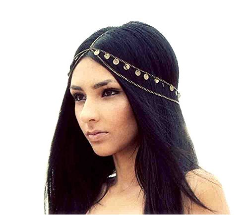 Retro Mysterious Fashion Metal Head Chain Jewelry Chain Headband Head Piece Hair - Heads Metal