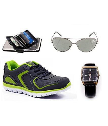 Spot On Men s Grey Mesh Running Shoes with Reebok Wrist Watch and  Cardholder Combo (SP-E204-RBK-W-S-C) 9 UK  Buy Online at Low Prices in  India - Amazon.in 83a2f20081332