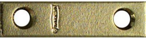 "NATIONAL MFG/SPECTRUM BRANDS HHI N190-892 Mending Plate, 2"" x 1/2"", Bright Brass Finish"