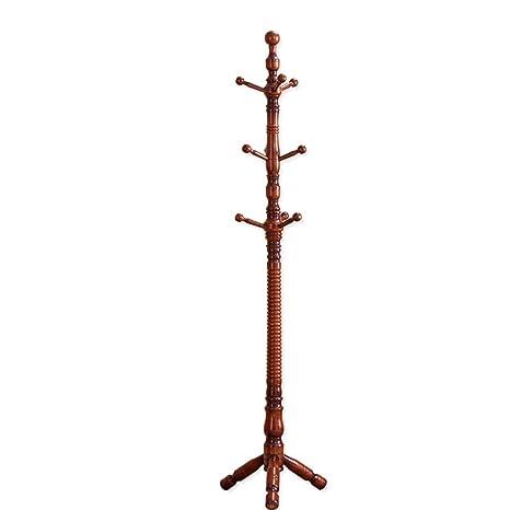 Amazon.com: Perchero de madera maciza para colgar ropa ...