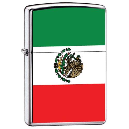 Amazon.com: Zippo Custom Lighter Mexico Flag High Polish Chrome Finish: Health & Personal Care