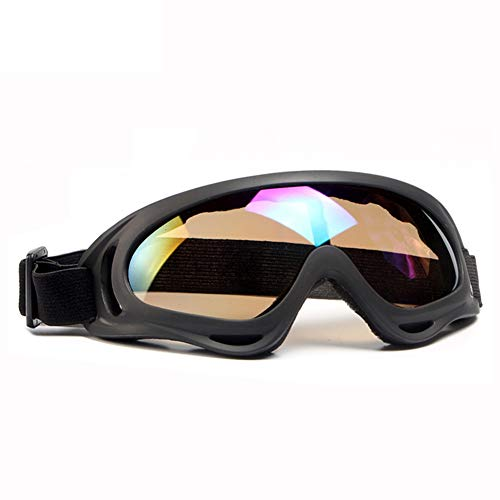 SPOSUNE Motorcycle Goggles for Men Women,Airsoft Goggles UV400 Protective Light Anti-Glare Detachable Lenses Windproof Dustproof Ski Goggles Safety ()