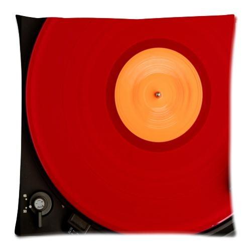Custom rojo disco de vinilo Tocadiscos con cremallera funda de ...