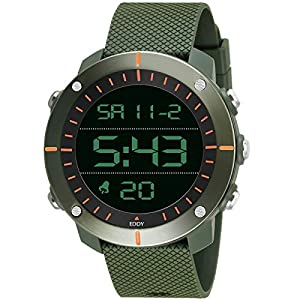 EDDY HAGER Analogue - Digital Men's Watch (Black Dial Green Colored Strap)